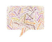 Speech Rectangle Made Up Of Text — Foto Stock