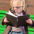 Cute Girl Reading Book — Stock Photo