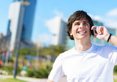 Young Man Talking On Cellphone — Stock Photo