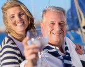 Mature Couple Drinking Wine — Stock Photo