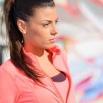 Portrait Of Sporty Woman — Stock Photo