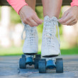 Close-up Of Legs With Roller Skating Shoe — Stock Photo #22642701