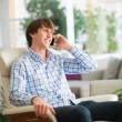 Young Man Talking On Cell Phone — Stock Photo