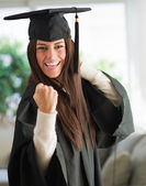 Portrait Of Happy Graduate Woman — Stock Photo
