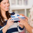 Two Women Buying Shoes — Stock Photo