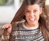 Retrato de mujer frustrada — Foto de Stock
