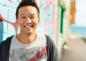 Portrait Of Happy Asian Man — Stock Photo