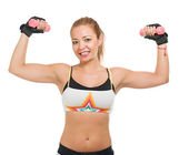 Mid-adult Woman Lifting Dumbbell — Stock Photo
