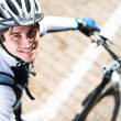 Portrait Of Young Male Cyclist - Foto de Stock