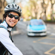 Stock Photo: Happy Young Male Cyclist