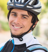 Happy Young Male Cyclist — Stock Photo