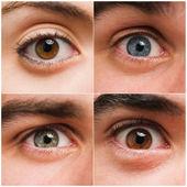Sada lidských očí — Stock fotografie