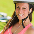 Close-up Of Cyclist Woman — Stock Photo