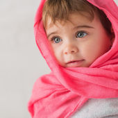 Portrait of cute baby — Stock Photo