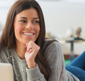 Portrait Of Happy Young Woman — Stock Photo