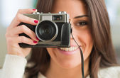 Young Woman Capturing Photo — Stock Photo