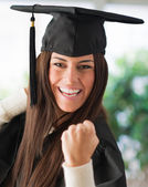 Portrait Of Happy Graduate Woman — Foto de Stock