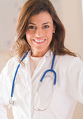 Portrait Of Happy Female Doctor — Stock Photo