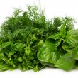 Fresh basil,parsley and dill — Stock Photo