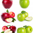 Collection of apples — Stockfoto #21614181
