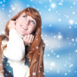 Stock Photo: Winter girl
