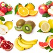 Collection of fresh fruits — Stockfoto #21615911