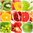 Stock Photo: Fruit collage