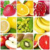 Fruit collage — Photo