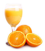 Sweet orange with juice — Photo