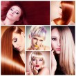 Stock Photo: Hair collage