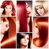 Hair collage — Stock Photo