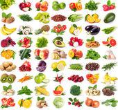 Coleção de frutas e vegetais frescos — Foto Stock