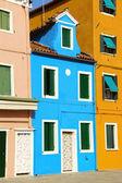 Renkli evler burano adası, venedik — Stok fotoğraf
