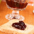 Stock Photo: Toast with cherry jam