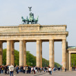 Brandenburg Gate and the Quadriga in Berlin — Stock Photo