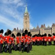 Stock Photo: Changing of guard in Ottawa, Canada