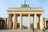 Brandenburg Gate and the Quadriga in Berlin — Stok fotoğraf