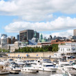 Skyline and Port of Montreal - Stockfoto