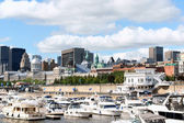 Skyline and Port of Montreal — Stock Photo
