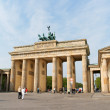 Brandenburg Gate and the Quadriga in Berlin - Stock Photo