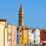 spojrzenie na wyspę burano, Wenecja — Zdjęcie stockowe