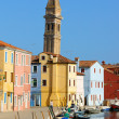 Glimpse of Burano Island, Venice — Stock Photo