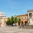 Piazza Marconi in Santarcangelo di Romagna, Italy - Stock Photo