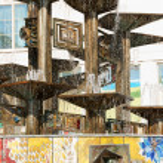 Fountain of International Friendship in Alexanderplatz, Berlin, — Stock Photo