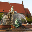 Fountain of Neptune and Marienkirche in Berlin — Stock Photo
