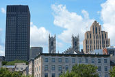 Glimpse of downtown Montreal — Stock Photo