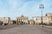 Brandenburg Gate and Pariser Platz in Berlin — Stock Photo