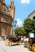 Seville Cathedral and La Giralda belltower — Stock Photo
