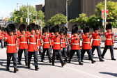 Canadian Grenadier Guards on parade in Ottawa, Canada — Stock Photo