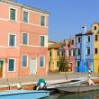 Burano Island on a sunny summer day, Venice - Stock Photo